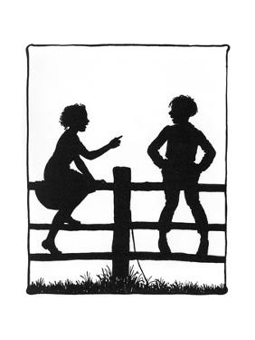 Dunderpate and His Friend Susan Sitting on Another Fence by Mary Baker
