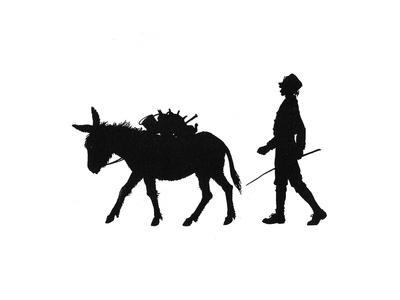 Dunderpate Sees a Pedlar and Donkey Walking By