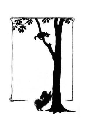 Koko the Dog Frightens a Kitten into a Tree