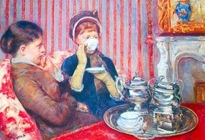 Mary Cassatt  A Cup of Tea Art Print Poster