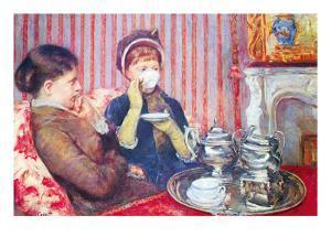 A Cup of Tea No.2 by Mary Cassatt
