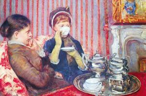 A Cup of Tea No.2 by Mary Cassatt