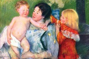 After the Bath by Mary Cassatt
