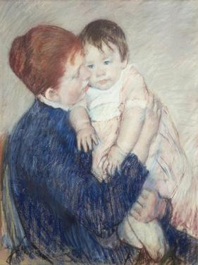 Agatha and Her Child, 1891 by Mary Cassatt