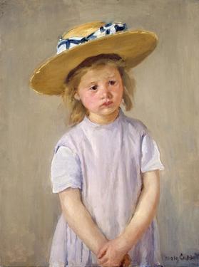 Child in a Straw Hat by Mary Cassatt
