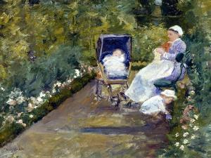 Children in a Garden (The Nurse) by Mary Cassatt