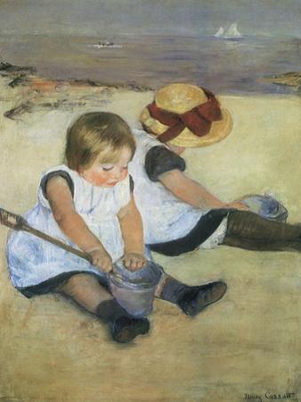 Children on the Beach, 1884 by Mary Cassatt