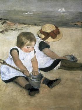 Children on the Beach by Mary Cassatt