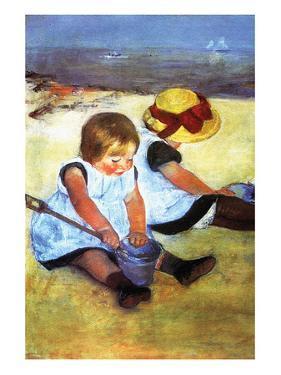 Children Playing on the Beach by Mary Cassatt