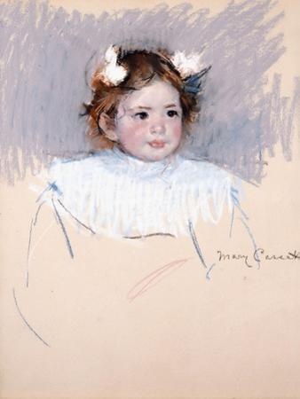 Ellen with Bows in Her Hair, Looking Right, 1899 by Mary Cassatt