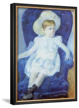 Elsie in a Blue Chair by Mary Cassatt