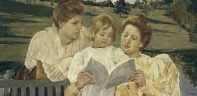 Family Group Reading by Mary Cassatt
