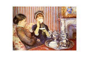 Five O'Clock Tea by Mary Cassatt