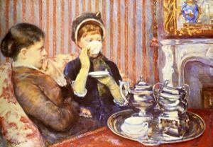Five O'Clock Tea by Mary Cassatt