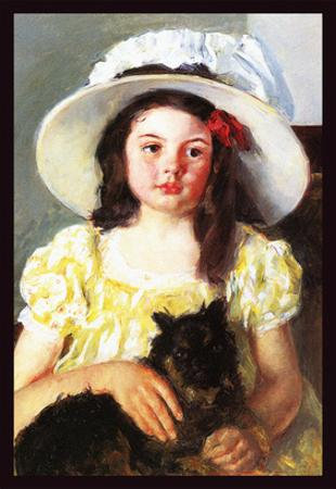 Francoise with a Black Dog by Mary Cassatt