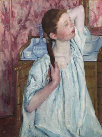 Girl Arranging Her Hair, by Mary Cassatt by Mary Cassatt