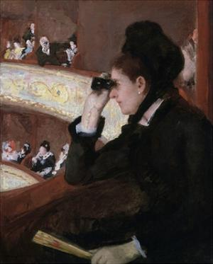 In the Loge by Mary Cassatt by Mary Cassatt