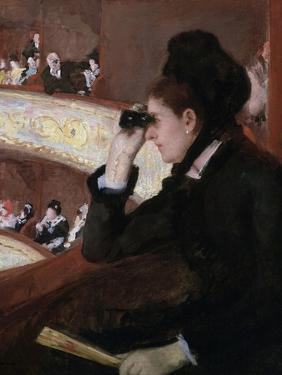 In the Loge by Mary Cassatt by Mary Cassatt