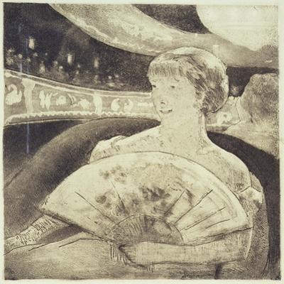 In the Opera (Aquatint Etching) by Mary Cassatt
