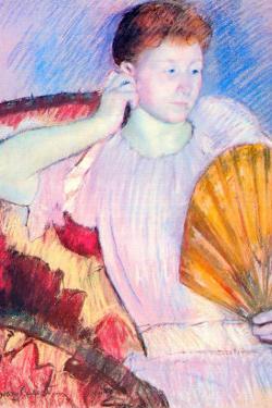 Lady with a Fan by Mary Cassatt