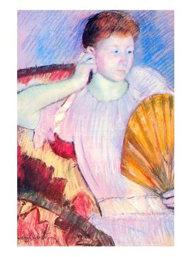 Lady with a Fan by Mary Cassatt