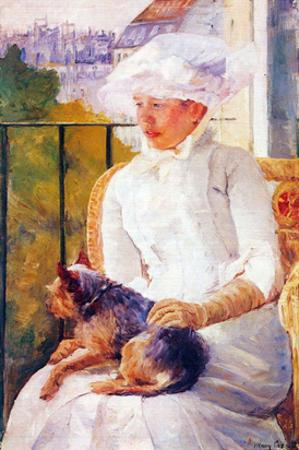 Lady with Dog by Mary Cassatt