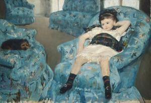 Little Girl in a Blue Armchair, c.1878 by Mary Cassatt