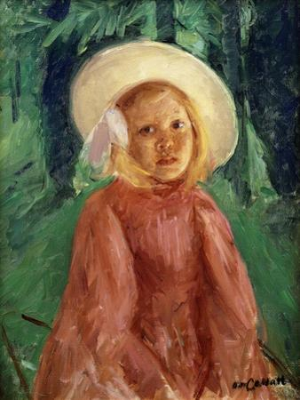 Little Girl in a Redcurrant Dress, 1912 by Mary Cassatt