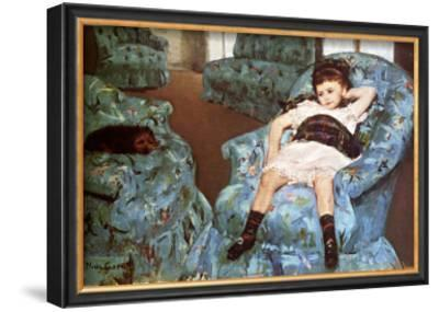 Little Girl Sitting in Blue Arm Chair by Mary Cassatt