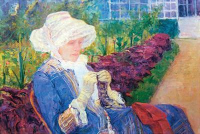 Lydia in the Garden of Marly by Mary Cassatt