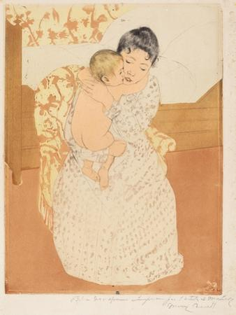 Maternal Caress, 1890-1 by Mary Cassatt