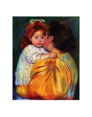 Maternal Kiss, c,1896 by Mary Cassatt