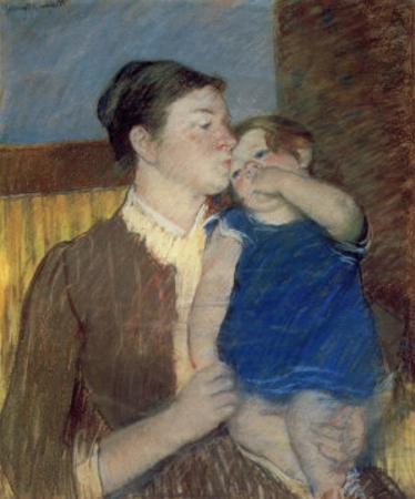 Mother's Goodnight Kiss by Mary Cassatt