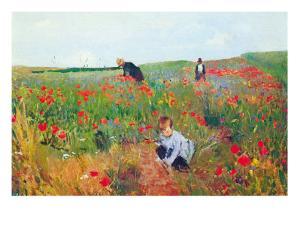 Poppies by Mary Cassatt