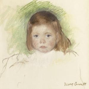 Portrait of Ellen Mary Cassatt (Pastel on Paper Mounted on Paperboard. 36.2 X 35.9Cm.) by Mary Cassatt