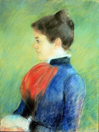 Profile of a Woman Wearing a Jabot by Mary Cassatt