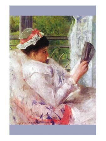 Reading Mrs. (Lydia Cassatt) By Cassatt by Mary Cassatt