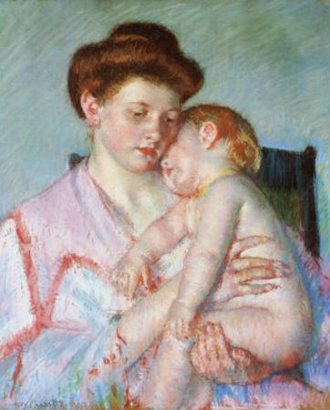 Sleepy Baby by Mary Cassatt