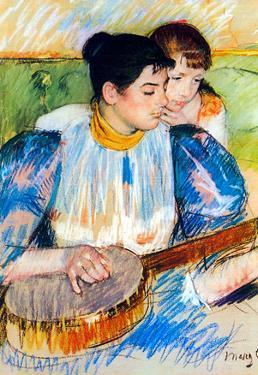 Mary Cassatt The Banjo Lesson Art Print Poster