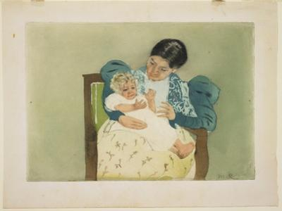 The Barefooted Child, C. 1896-1897 by Mary Cassatt