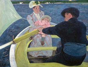 The Boating Party by Mary Cassatt by Mary Cassatt