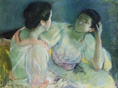 The Conversation, 1860 by Mary Cassatt