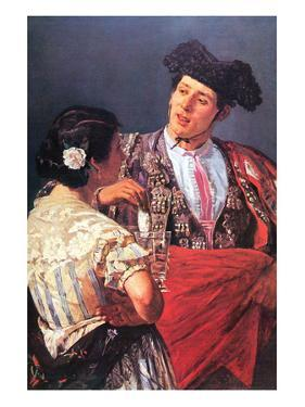 Toreador with Young Girl by Mary Cassatt