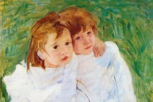Two Sisters by Mary Cassatt