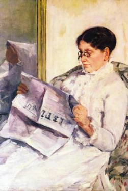 When Reading of Figaro by Mary Cassatt