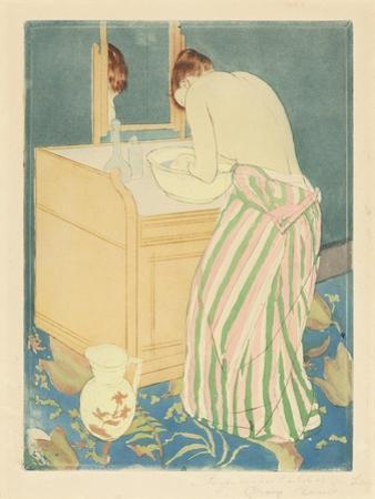 Woman Bathing, 1890-1 by Mary Cassatt