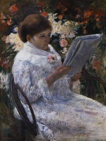 Woman Reading in a Garden by Mary Cassatt