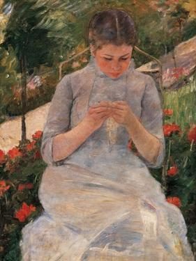 Woman Sewing by Mary Cassatt