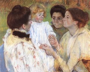 Women Admiring A Child by Mary Cassatt