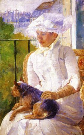 Young Girl at a Window by Mary Cassatt